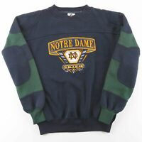 MIDWEST EMBROIDERY Notre Dame Irish Blue American Round Neck Sweatshirt Mens M