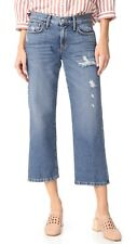SIWY DENIM Maria Luisa Parallel Leg Crop Distressed Jeans Pants 26 Blue $196 #2