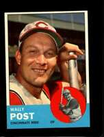 1963 TOPPS #462 WALLY POST NMMT REDS *SBA4154
