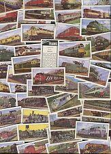 "BARRATT 1970 SET OF 50 ""TRAINS"" RAILWAY RAIL LOCOMOTIVE TRADE CARDS"