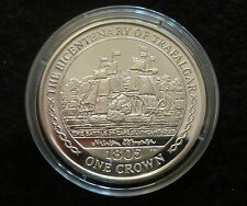 Isle Of Man Battle Of Cape St Vincent Sterling Silver Proof Crown 2005