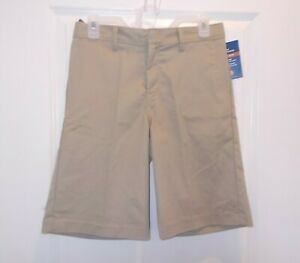 Dickies Boys Size 16 Beige Classic Fit Flat Front Adjustable Waist Shorts