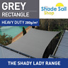 Rectangle GREY 2m X 2.5m Shade Sail Sun Heavy Duty 280GSM Outdoor GREY 2m x 2.5m