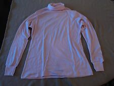 2 b.g.day Cotton Turtlenecks Pink and Tan Long Sleeve Women's L LARGE NEW!!