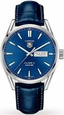 WAR201E.FC6292 Tag Heuer Carrera Automatic Mens Watch Blue Dial/Leather Strap