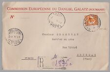 1932 Galatz Romania Cover to Bourges Cher France Red wax seal