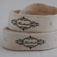 20 cotone lino tessuto a nastro da cucire etichette-fatti a mano-Vintage Shabby Chic