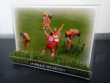 ✺Signed✺ JARRAD MCVEIGH Photo & Frame PROOF Sydney Swans AFL 2012 2018 Guernsey
