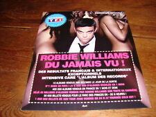 ROBBIE WILLIAMS DU JAMAIS VU!!!!!!RARE FRENCH PRESS/KIT