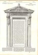 1862 PHILIBERT DE l'orme Belle Arti disegno orangery Chateaux d'anet OPERA D'ARTE