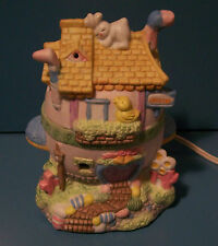 Easter Lighted House Hand Painted Porcelain - New/Old Stock in Box