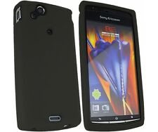 Black Silicone Case Skin Cover for Sony Ericsson Xperia ARC X12 - In Stock - UK