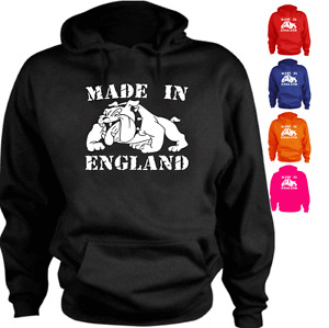 Made In England Bulldog  Custom New Present Gift Hoodie