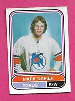 RARE 1975-76 OPC WHA # 78 TOROS MARK NAPIER ROOKIE NRMT CARD (INV# D2083)