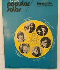 Popular Harmonica Solos and How to Play Them 1970 Book Charles Hansen