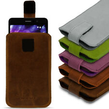 Leder Tasche für Medion S5504 Smartphone Handy Hülle Cover Pull Tab Schutz Case