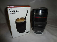 Camera Lens Cup Mug Travel Tumbler Insulated Stainless Steel Caniam EF 24-105mm