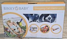 New Binxy Baby Shopping Cart Hammock Indigo Dream Blue & White
