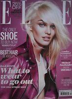 CANDICE SWANEPOEL December 2013 ELLE (UK) Magazine MICHAEL FASSBENDER Brand New