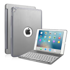 Gray 7 Colors Backlit Bluetooth Keyboard Folio Case Cover For iPad Pro 9.7""