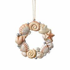 4058861 Jim Shore River's End Coastal Christmas Ornament Shell Wreath NWT