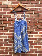 Converse One Star Flowy Blue Bandana Sleeveless Sun Dress Sz S Small RARE!