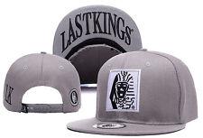 New Fashion Last Kings Adjustable Baseball Cap Snapback Hip-Hop Street Gray Hat