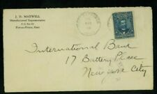 Haiti 1919 Wwi Censored Cover Port au Prince to Ny franked solo Scott 168