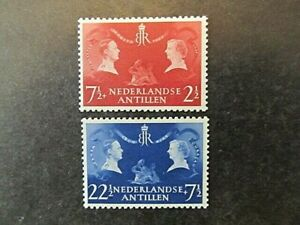 NETHERLANDS ANTILLES, SC# B26-B27, VISIT of the ROYAL COUPLE (1956) MNH