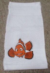 NEMO CLOWN FISH KIDS/CHILDREN/BABY WHITE FACE WASHER