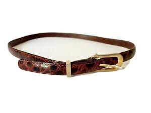 Le Tanneur Vintage Ladies Belt Authentic Crocodile Skin 32inches