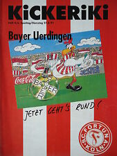 Programm 1991/92 SC Fortuna Köln - Bayer Uerdingen