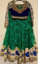 Ethnic Bridal Lehenga Choli Indian Wedding Party Wear Designer Lengha Blue Green