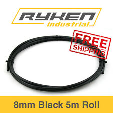 8mm Hose Flexible - Nylon - Black / Tube - Pneumatic Air Line / 5m Roll