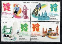 LONDON 2012 OLYMPIC GAMES soccer cycling sailing athletic URUGUAY MNH STAMP 2376