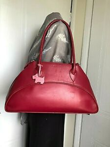 RADLEY FABULOUS LARGE LEATHER SHOULDER HANDBAG DOG TAG  CLEAN LINIINGS