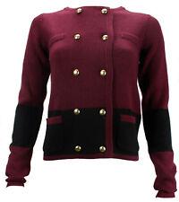 Damen Leutnant Strickjacke Jacken Strickpullover Langarm Pullover Strick Jacket