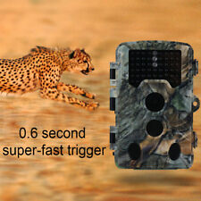 16MP 1080P HD FOTOTRAPPOLA MIMETICA VIDEOCAMERA 120° PIR TRAIL HUNTING CAMERA