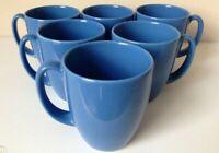 Corelle Stoneware Mugs | Pristine Set of 6 | Royal Blue | Vintage | 11 fl oz