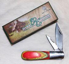 Nice Barlow Two Blade Pocket Knife Multi-Color Wood Handle NEW  RE5023-MC