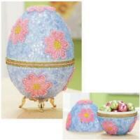 Springtime Collector Egg Sequin & Beads Kit - Beaded Easter Egg Kit - NEW