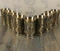 40ml Shot Glass Metal Alloy Creative Ancient Egypt Bar Drinkware Accessories