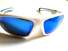 4b102b1f56f3 KARRIMOR REVO POLARIZED SUNGLASSES WHITE / BLUE FRAME SPORTS RUNNING MENS