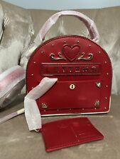 Nuevo con etiquetas Kate Spade York YOURS verdaderamente buzón de correo New Amor Corazón Bolso bandolera rojo