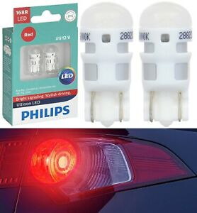 Philips Ultinon LED Light 168 Red Two Bulb Front Side Marker Show Use Stock JDM