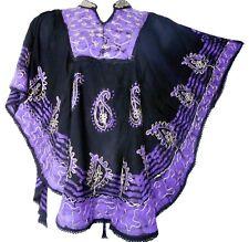 Fashion Women Loose Sleeve Batwing Dolman Tunic Blouse Top One Size Black Purple