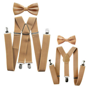 Axy Vater-Sohn Partner Look Braces With Bow Tie Set For