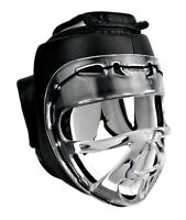 NEW - Headgear with Clear Face Shield for Karate Taekwondo MMA Sparring Training