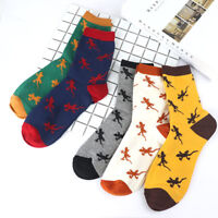 Autumn Soft Stretchy Men Medium Stock Casual Sock Lizard Animal Cotton Sock