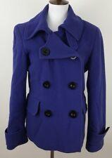 Marvin Richards Womens Pea Coat 10 Vintage Jacket Peacoat Purple Wool